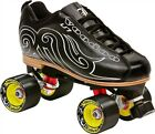 NEW! LABEDA VOODOO U7 BLACK QUAD SPEED ROLLER SKATES MENS sz 8 ABEC 9 $250 valu