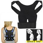 UK Adjustable Shoulder Belt Back Support Waist Brace Posture Corrector Relief B1