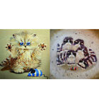 DIY 5D Diamond Mosaic Cat & Mouse Painting Cross Stitch Kits Embroidery Home JR