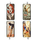 Pin Up Girl - Comic - Printed Faux Pattern Hard Cover Case For iPhone 6 & 7