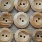 "WOODEN BUTTONS 2-HOLE NATURAL -BULK BUY- 25MM (1"") - 50 or 25 PACK*** size 40"