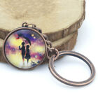 Couples Walking in the rain Keyring Cabochon Glass for women men Keyring