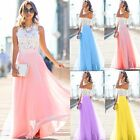 Women Lace Dress Formal Long Prom Evening Party Cocktail Bridesmaid Maxi Wedding