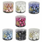 Christmas Tree Decoration Glass Baubles - 24 Pack 25mm - Choose Colour