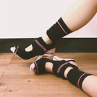 Womens Stretch Socks Ankle Boots High Heel T Stage Shoes Hollow Open Toe Knit sz