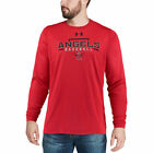 Under Armour Los Angeles Angels Red Tech Long Sleeve T-Shirt - MLB