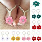 1Pair Infant Foot Ring Pearl Chiffon Barefoot Toddler Foot Flower Beach Sandals