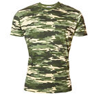 T-SHIRT CAMO CAMOUFLAGE ARMY MILITARY HUNTING FISHING PAINTBALL COTTON CASUAL