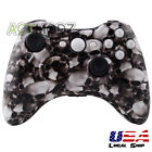 White Skull Hades Hydro Dipped Case For Xbox 360 Controller Shell