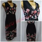 NEW GEORGE DRESS SHIFT FLORAL BLACK PINK WHITE PARTY OFFICE SUMMER SIZE 8 - 24