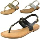 Soda Women's T-Strap Thong Sandals Ankle Strap Slingback Gladiator Flat Shoes
