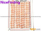 48 Pairs Half Drilled Freshwater Pearl Flat Back Earrings Making Beads DIY 7-8mm