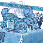 AGE 80 - Happy 80th Birthday BLUE GLITZ - Party Range, Banners & Decorations