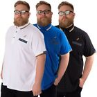 KANGOL CHIP NEW BIG MENS PLUS SIZE SHORTSLEEVE POLO CASUAL T SHIRT TOP 2XL-5XL