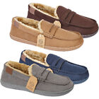 Mens Hampshire Slip On Warm Fur Lined Comfort Moccasin Loafers Slippers Shoes UK