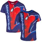 Boys Ultimate Spiderman Logo Pouncing Spidey T-Shirt Top 4 to 12 Years