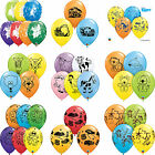 "6 x 11"" Printed Qualatex LATEX BALLOONS Assorted Colours Children Birthday Party"