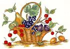 Wicker Fruit Basket Select-A-Size Waterslide Ceramic Decals Xx  image