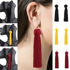Vintage Women Bohemian Fringe Boho Long Tassel Hook Drop Dangle Earrings Jewelry