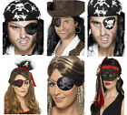 Men's Ladies Pirate Buccaneer Eyepatch Eyemask