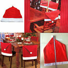 Santa Claus Red Hat Chair Back Cover For Christmas Dinner Party Table Decoration