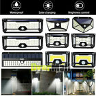 2 X LED Solar Power PIR Motion Sensor Wall Light Outdoor Garden Lamp Waterproof