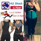 Hot Products Neoprene Waist Trainer Body Shaper Zipper Corsets Wrap Belt Vest AU