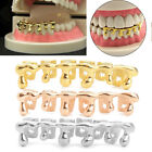 Custom Fit 14k Gold Plated Hip Hop Teeth Drip Grillz Caps Lower Bottom Grill Set