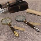 Antique Vintage Magnifying Glass Brass Pewter Filigree Handle Map Nautical Gift