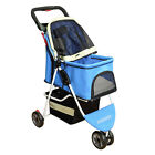 Hot Pet Stroller Large Space Small Puppy Walking Carrier Outdoor 3 Wheels Cart