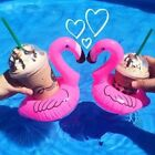 Flamingo Inflatable Floating Drink Can Cup Holder Tub Swimming Pool Beach Party