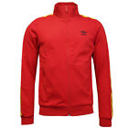 Umbro Retro Taped Mens Adults Full Zip Track Top Jackets Red 60903U 5CP R10
