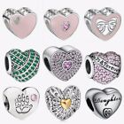 European Silver Charms heart1 Fit 925 sterling Bracelet bangle Necklace K Chain