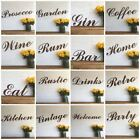 Rusty WORDS Lettering Letters Sign Metal Shop Front Home Bar Pub Man Cave Cafe