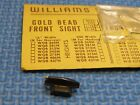 NEW OLD STOCK Williams Gold Bead Front Sight Savage Winchester Marlin Colt SearsRifle - 73949