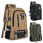 Outdoor Vintage Canvas Backpack School Satchel Traveling Shoulder Bag Solid