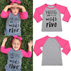 Toddler Infant Baby Kids Girls Long Sleeve Cotton T-shirt Tops Outfits Clothes