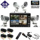 HAWKEYE H.264 DVR 4 CAMERA CCTV SECURITY SYSTEM LCD MONITOR HOME & BUSINESS KIT