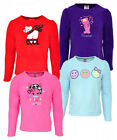 Girls Too Cute Purrfect Cat Polar Bear Smiley Face Fleece Jumper Top 4 - 8 Years