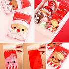 50-100X Red Christmas Cello Cellophane Party Favour Sweet Biscuit Gift Bags