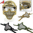 Tactical Adjustable Steel Mesh Half Face Mask for Fast Helmet Airsoft Military