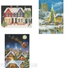 "Traditional Christmas Glitter Plus Dog & Cat Advent Calendar 12"" x  9"""