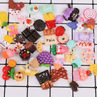 10/ 50 Pcs Mixed Color Kawaii Cell Phone Case Resin Ice Cream Flatback DIY Decor