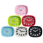 New Alarm Clock Candy Color Battery Silent Home Desk Table Analog Clock Snooze