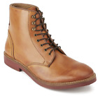 H By Hudson Tan Mcallister Leather Lace Up Ankle Chelsea Military Boots 8 42 New