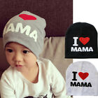 I Love MAMA PAPA Kids Baby Infant Boy Girl Cute Soft Warm Hat Cap Cotton Beanie