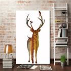 Unframed Deer with Forest Background Canvas Wall Art Print Oil Painting Home