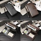 New Fashion Men Casual Synthetic Leather Wallet Card Holder Money Clip EN24H
