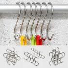 10pcs Polished Stainless Steel S Hook Kitchen Utensil Pot Clothes Hanger B20E