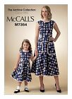 McCalls SEWING PATTERN M7354 Misses/Girls Retro 1950s Back Wrap Dress